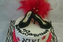 bags and shoes cakes