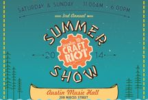 2014 ACR Summer Show / Featuring 70 handmade vendors from Austin and the surrounding areas, the 3rd Annual ACR Summer Show will be returning to the Austin Music Hall August 16th and 17th! Offering the best that Austin has to offer in addition to a number of fun activities to keep the whole family entertained and AIR CONDITIONING IN AUGUST, you're not going to want to miss this signature event. Details at www.austincraftriot.com.