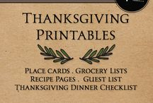 Thanksgiving Printables/Crafts