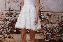 Tea Length and Mini Wedding Dresses / All of the tea length wedding dresses you could ask for.