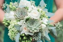 Succulents in my bouquet / decorations