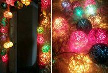 világító gömbök