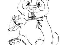 dessin animaux pour aquarelle
