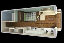 micro bathroom/ living