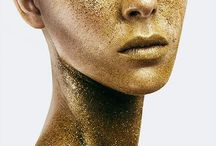 Gold face