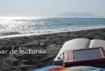 """Repaso a nuestro blog / En La mar de lecturas (http://bibliouma.blogspot.com.es/) estamos encantados de presentaros los libros que leemos. Porque  """"la lectura es la fábrica de la imaginación"""" (Jairo Gomelsky),"""