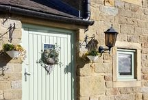Chartwell Green Windows and doors at our Barn / converted barn with chartwell green windows and doors