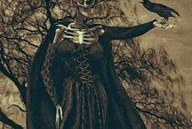 skulls#dark#evil#macabre#clown