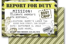Military themed invite