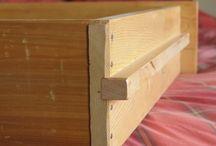 aménagement mobilier / glissières bois et tiroirs