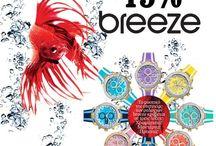 Πολύχρωμα και μοντέρνα ρολόγια BREEZE με ΕΚΠΤΩΣΗ -15% !!!