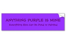 Purple Obsession / My obsession with my favorite color purple / by ♥Carie Albers♥