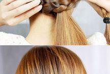 vardags håruppsättningar