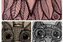 Fiona Radford.... Little projects... / Biro doodles......