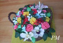 dorty s květinama / dorty zdobené květy drátkované i jiné a svatební dorty