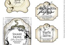 Bottles labels