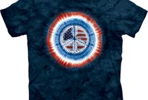 4th of July Shirts / Tie dye shirts for the 4th of July.