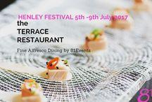 The terrace Restaurant @ Henley festival July 17
