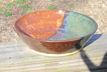 Pottery Bowls, Plates, Platters, Serving Items, etc. / All kinds of pottery functional pottery pieces such as bowls, plates, apple bakers, chip and dip trays, and other kitchen and serving related items etc.