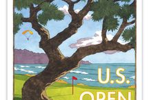 Golf Championship Posters / Poster art for Golf Championship Tournaments