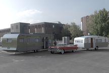 Caravans and Cars - DAZ Iray render