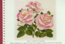 cross stitch roses frames