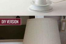 Decoração designer DIY / Candeeiro bules