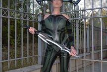 Hela Thor cosplay costume/ Hela headpiece/ Hela weapon