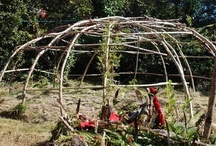 sweat lodge :: in our garden / every now and then we celebrate a sweat lodge with our guests, we wood comes from our property. the ceremony takes place in an enchanted place between a bent of a small stream. the sea is nearby, so people can either have a bath in the atlantic ocean or in a small rock pool.