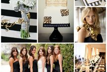 Black, white and gold wedding