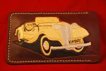 vintage car , leather case, phone cover, veg tan leather , brown leather , handcrafted
