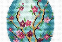 EGG *CROSS STITCH-EMBROIDERY