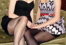 Black Pantyhose and High Heels / Candid and Amateur Women In Sexy Black Pantyhose and High Heels