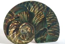 Glass shell paperweights / Creations of Stephen Foster