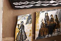 Ed Kluz / The work of artist, printmaker and designer Ed Kluz. See http://www.stjudesfabrics.co.uk for details of Ed's fabrics for St Jude's