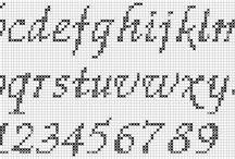 kanaviçe yazı karakterleri-cross stitch alfabeti