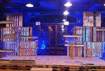palcos de madeiras
