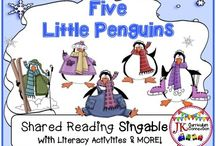 Penguins for Classrooms K-2 / Penguin Activities, Emergent Readers, Learning Games, Songs and so much more to make the study of Penguins interesting and engaging for students in Grades Kindergarten, First Grade and Second Grade!