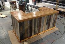 pallet wood bars