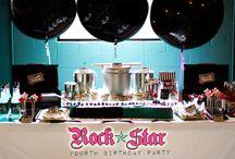 Rock themed birthday party
