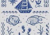 Morské vzory  vyšívané 2.