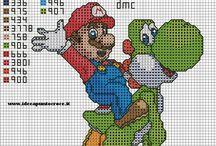 Haft krzyżykowy - Mario Brothers