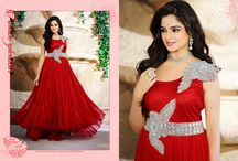 Unique Crimson Gown / With the stylish matching colour, you will be making a powerful style statement. Buy it right away and add lustre to your wardrobe.