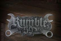 Rumble59 Buckles / hochwertige Gürtelschnallen - Buckles, die Dein cooles Rockabilly Outfit perfekt machen