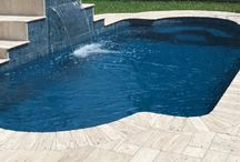Fiberglass pool / In-ground fiberglass swimming pool images and information.