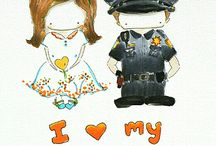 Thin Blue Line / LEOs, police officers and those who love them!