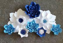 flores granndes de papel