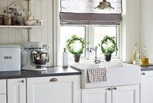 Dream Home: Kitchens / I like country style, white & pastel colors - here are some kitchens I love!