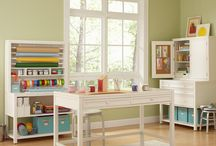 Home office/craft area / by Laura Corson