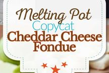 Fondue and hors d'oeuvres